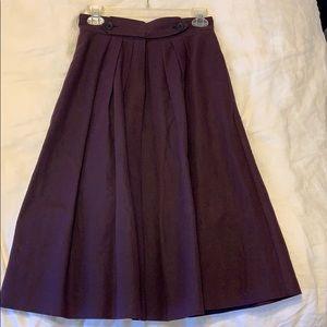 BURBERRY Prorsum Women's Linen Pleated Skirt